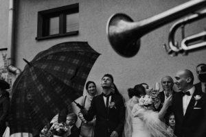 reportaż ślubny kraków, pierwszy toast pary młodej