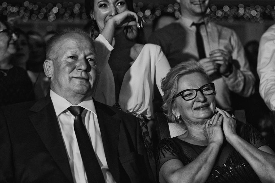 reportaż ślubny kraków, podziękowania rodzicom