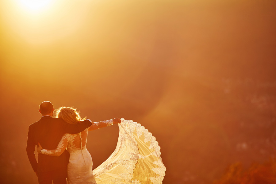 sesja ślubna, góra żar