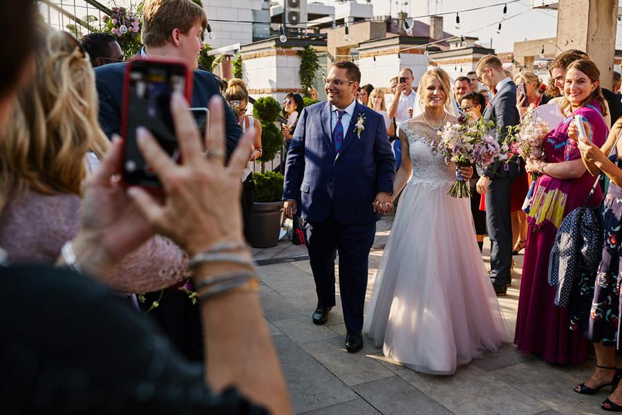ślub na tarasie hotelu starego