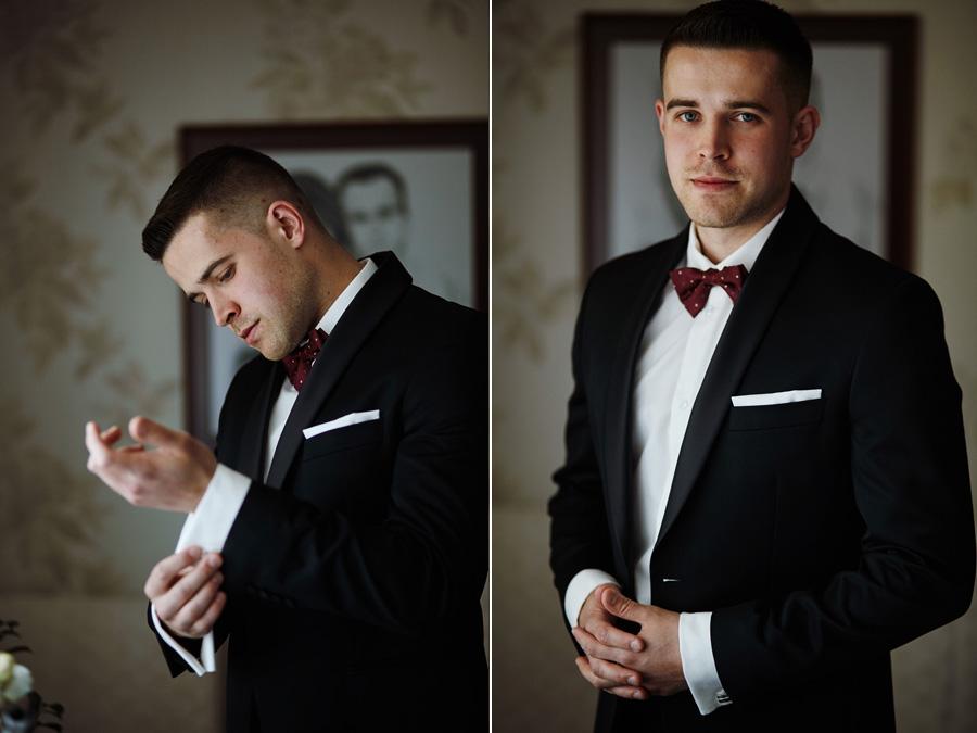 zdjęcie z przygotowań pana młodego do ślubu