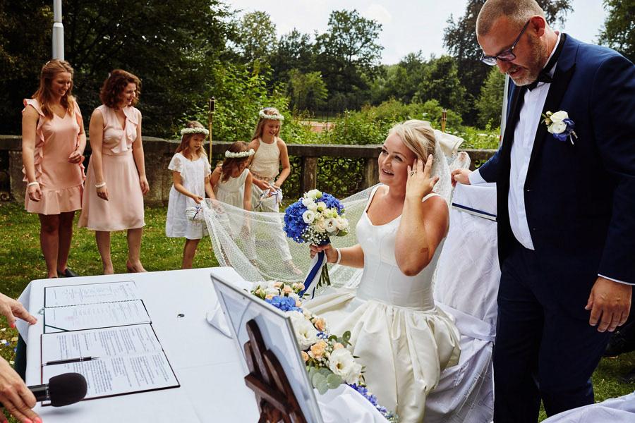 ślub plenerowy zamek kliczków